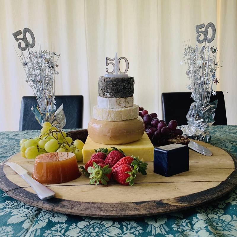 CheeseShop birthday cheese stack