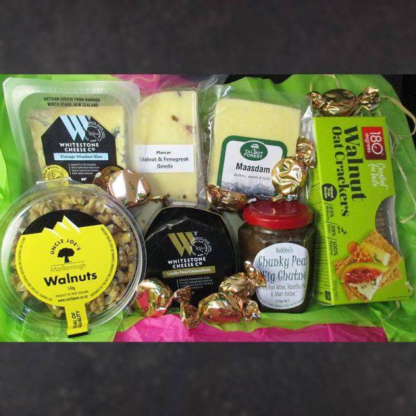 CheeseShop Gourmet Gift Hamper Fresh Walnuts Pear and Blue Cheese
