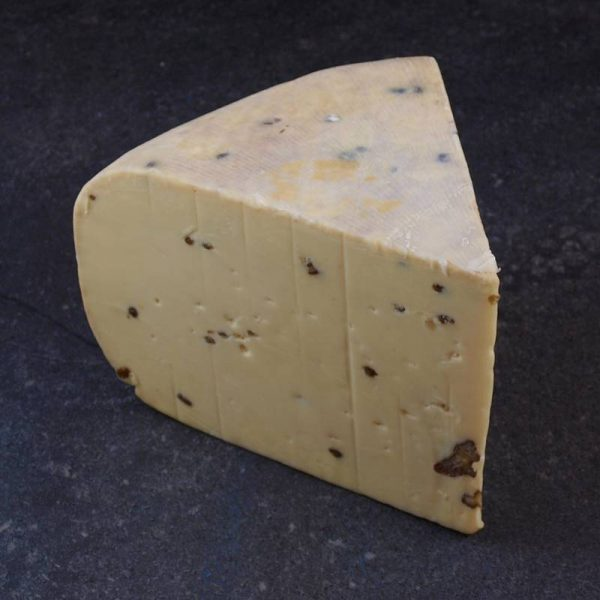 CheeseShop Mercer Walnut and Fenugreek Gouda cut fresh