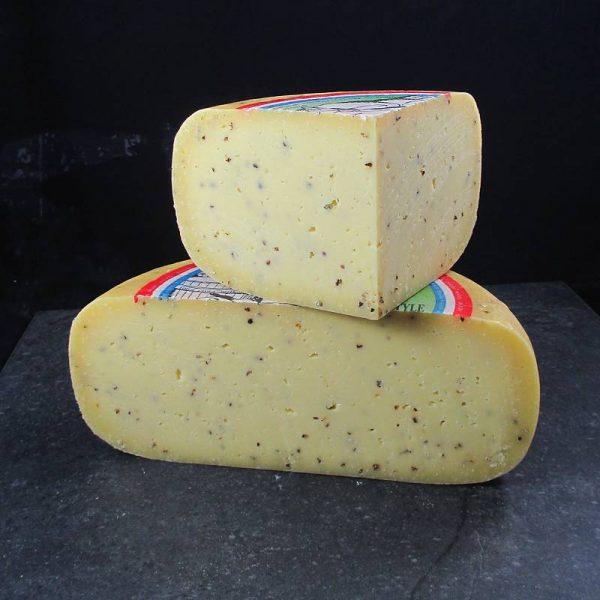 CheeseShop Meyer Black Pepper Gouda cut fresh