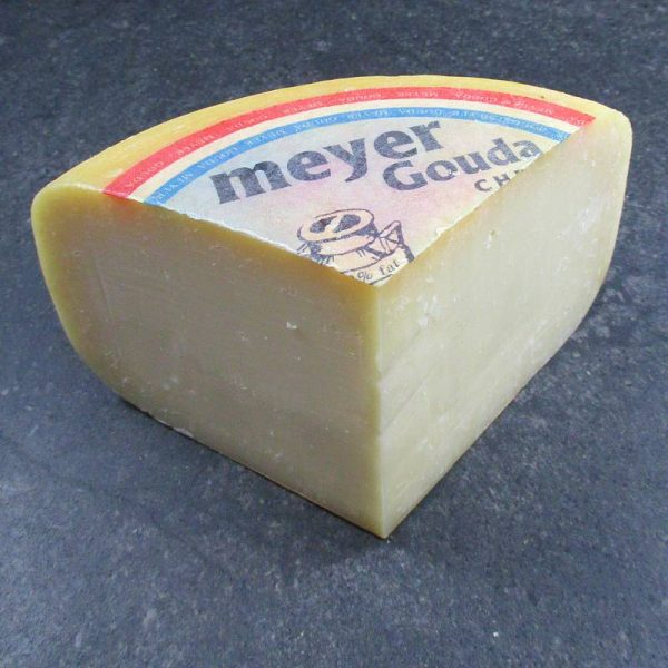 CheeseShop Meyer Goat Gouda cut fresh