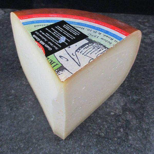 CheeseShop Meyer Smoked Goat Gouda cut fresh
